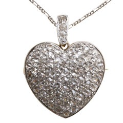 diamond heart penadant and brooch