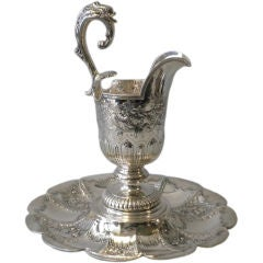 Gorham Mfg Co. Sterling George II Style Ewer On Stand Circa 1910