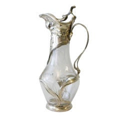 Russian Silver Mounted Decanter, Circa 1920