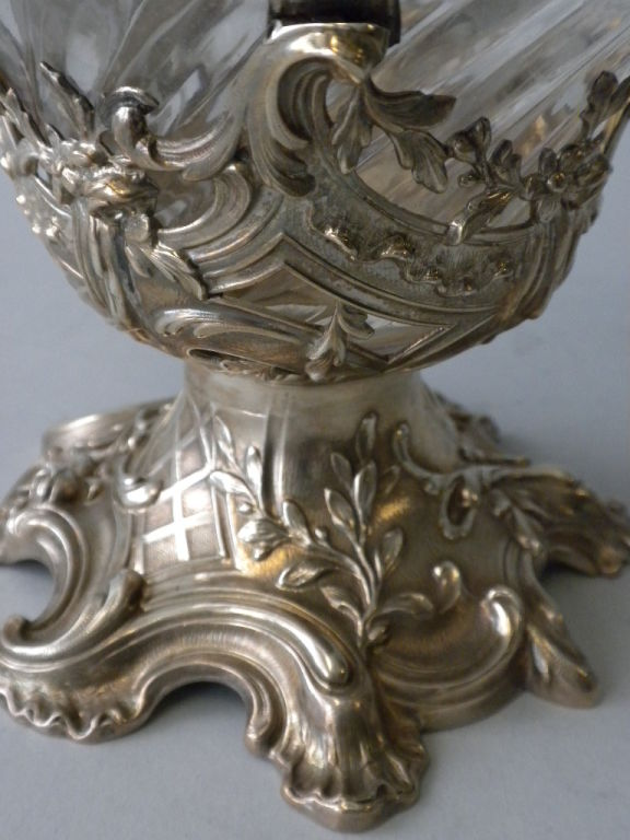 V. Boivin, French Silver And Crystal Decanters, Circa 1900 For Sale 1