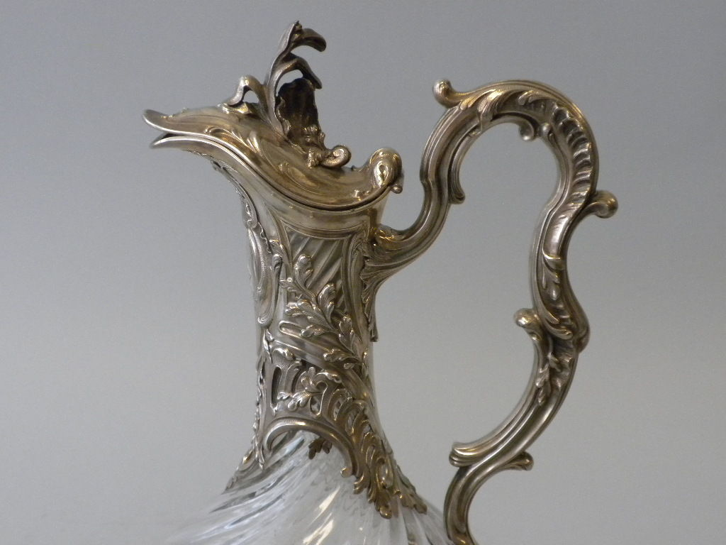 V. Boivin, French Silver And Crystal Decanters, Circa 1900 For Sale 5