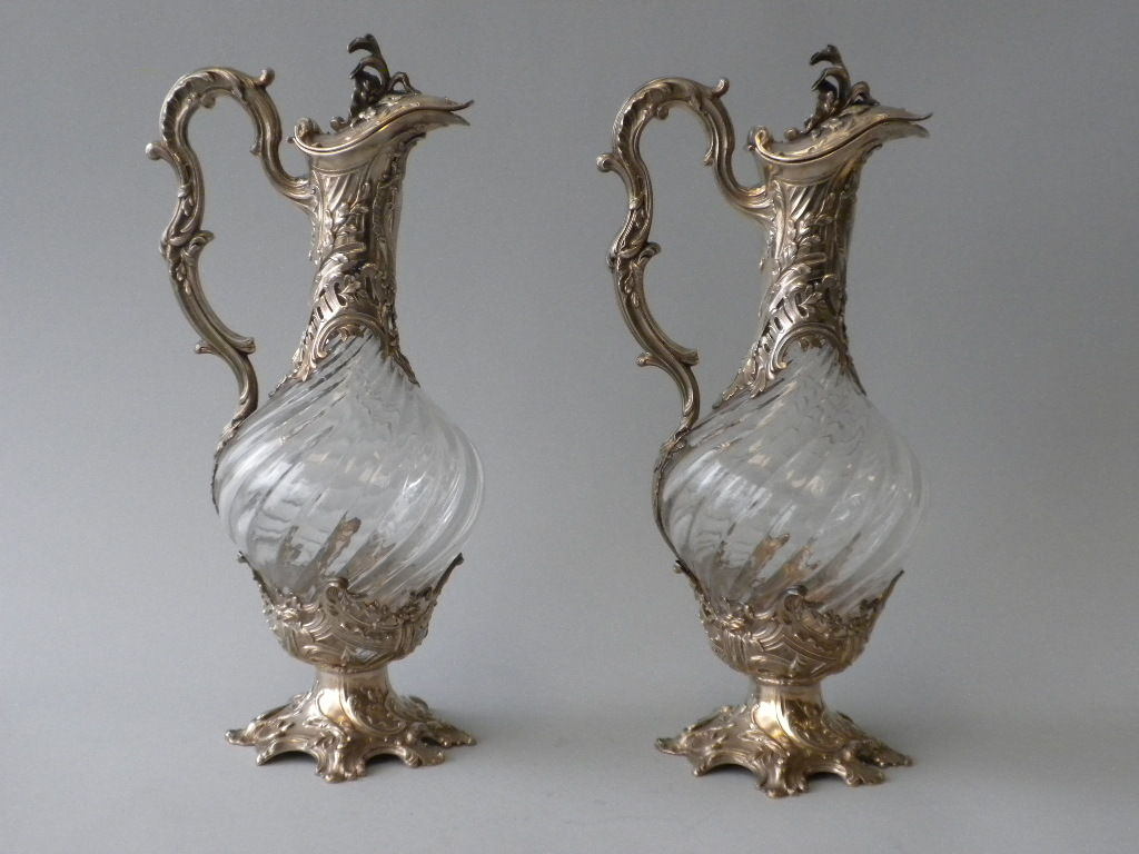 V. Boivin, French Silver And Crystal Decanters, Circa 1900 For Sale 7