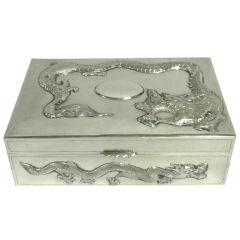 Antique Chinese Silver Table Box, Yoksang, Circa 1890