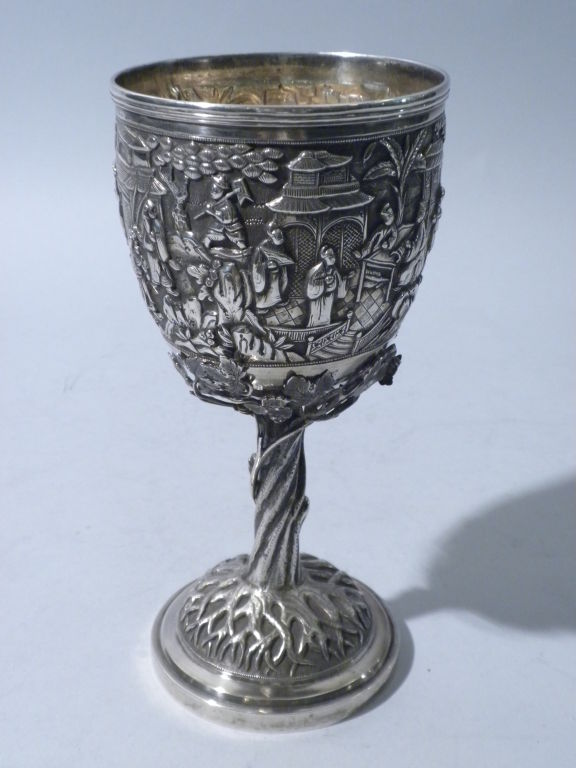 antique chinese export silver goblet  circa 1880 at 1stdibs