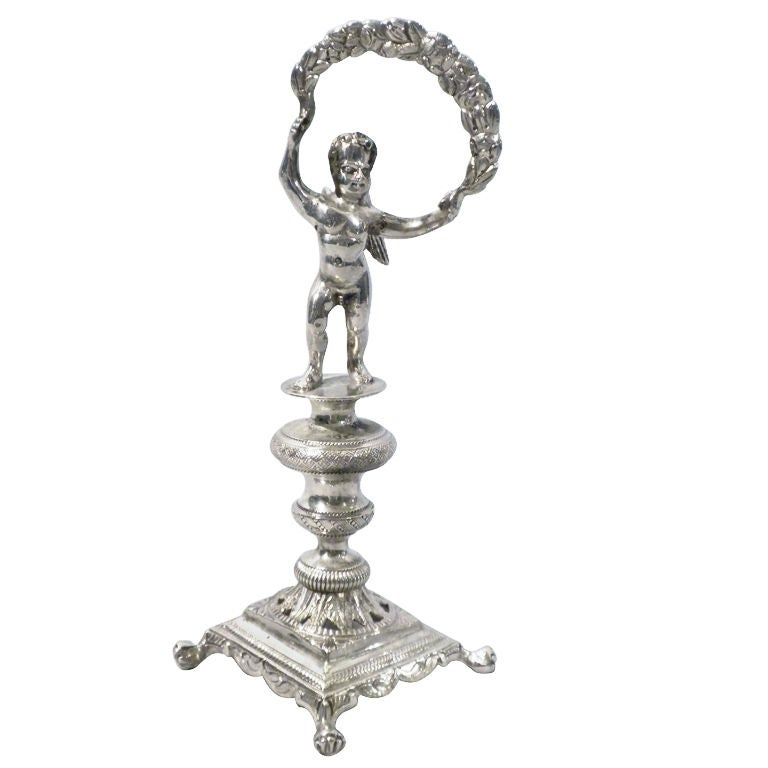 Portuguese Silver Figural Toothpick Holder At 1stdibs