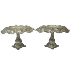 Pair of  Tiffany & Co. Sterling Compotes, Circa 1880