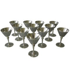 TIFFANY & CO Art Deco Sterling Martini Set, 1922