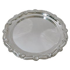 TIFFANY Sterling Silver Large Round Tray Shell