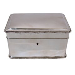 Dutch 833 Silver Heavy Weight Beaded Rectangular Box