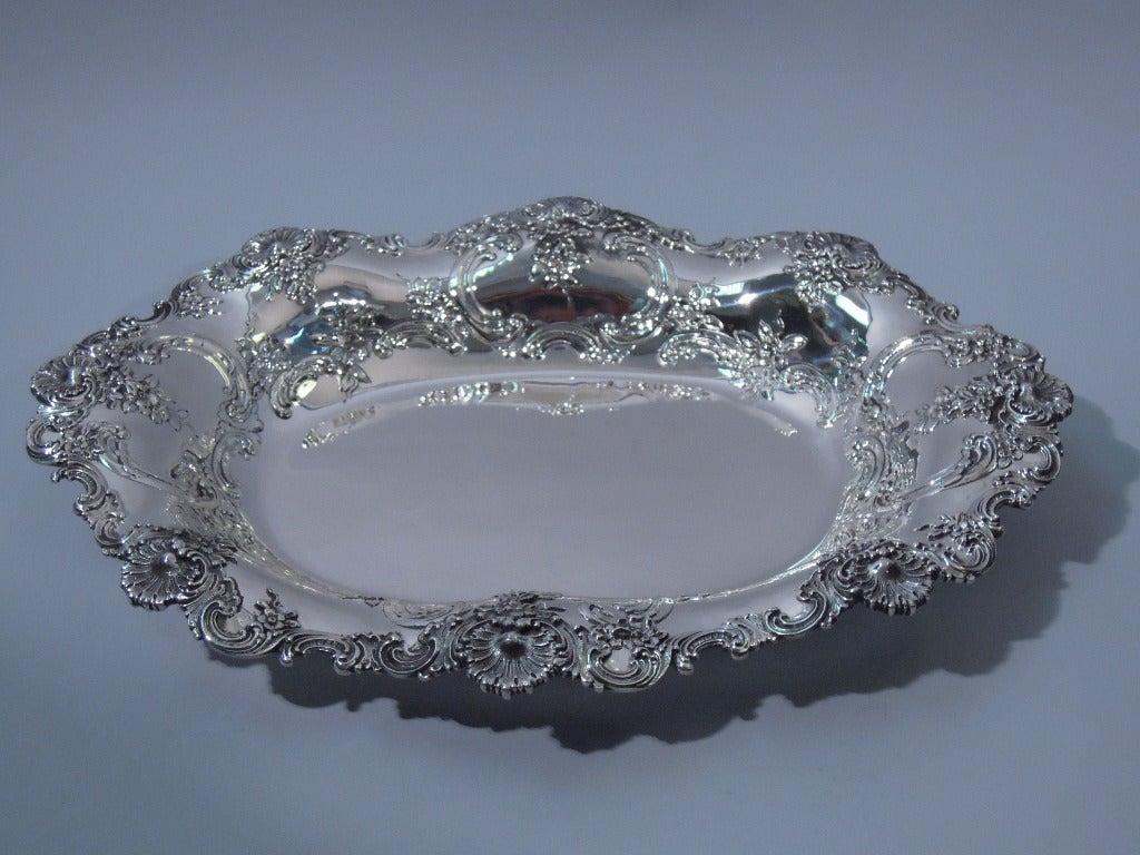 Tiffany American Sterling Silver Bread Tray Bowl C 1895 At