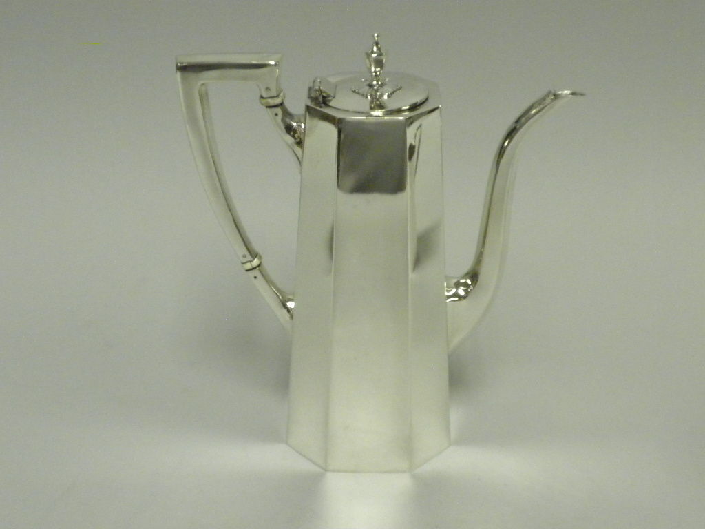 TIFFANY & CO Sterling Silver 3 Piece Demitasse Set, Circa 1950 image 2