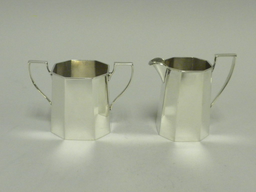 TIFFANY & CO Sterling Silver 3 Piece Demitasse Set, Circa 1950 image 6