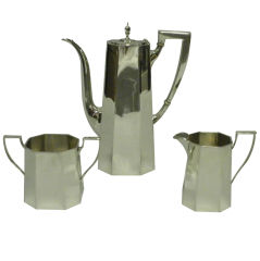 TIFFANY & CO Sterling Silver 3 Piece Demitasse Set, Circa 1950 thumbnail 1