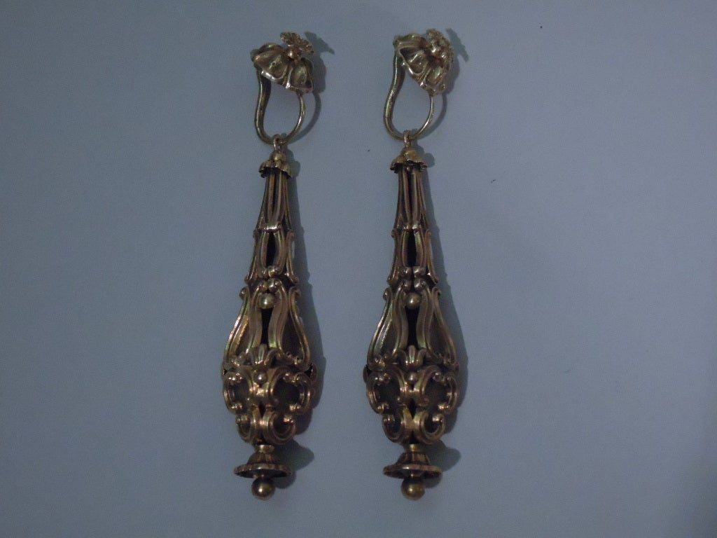 Georgian Earrings - Regency Classicism - 15 Kt Gold - C 1830 2