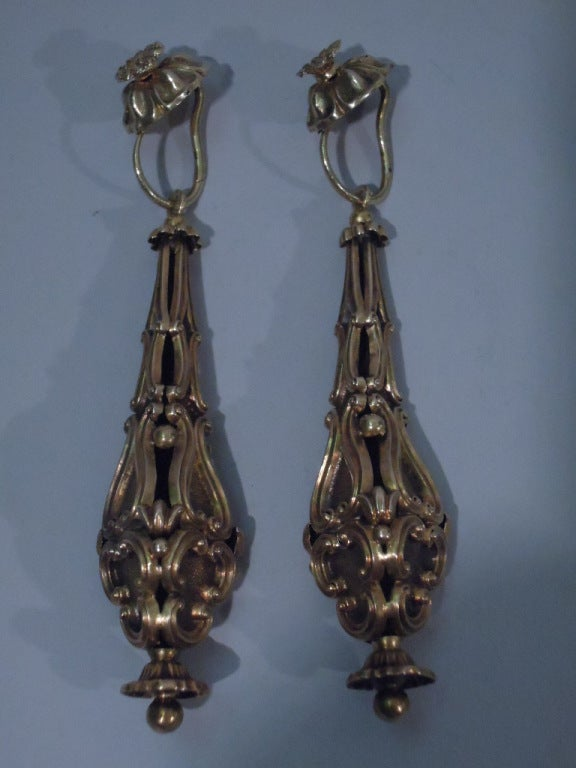 Georgian Earrings - Regency Classicism - 15 Kt Gold - C 1830 4
