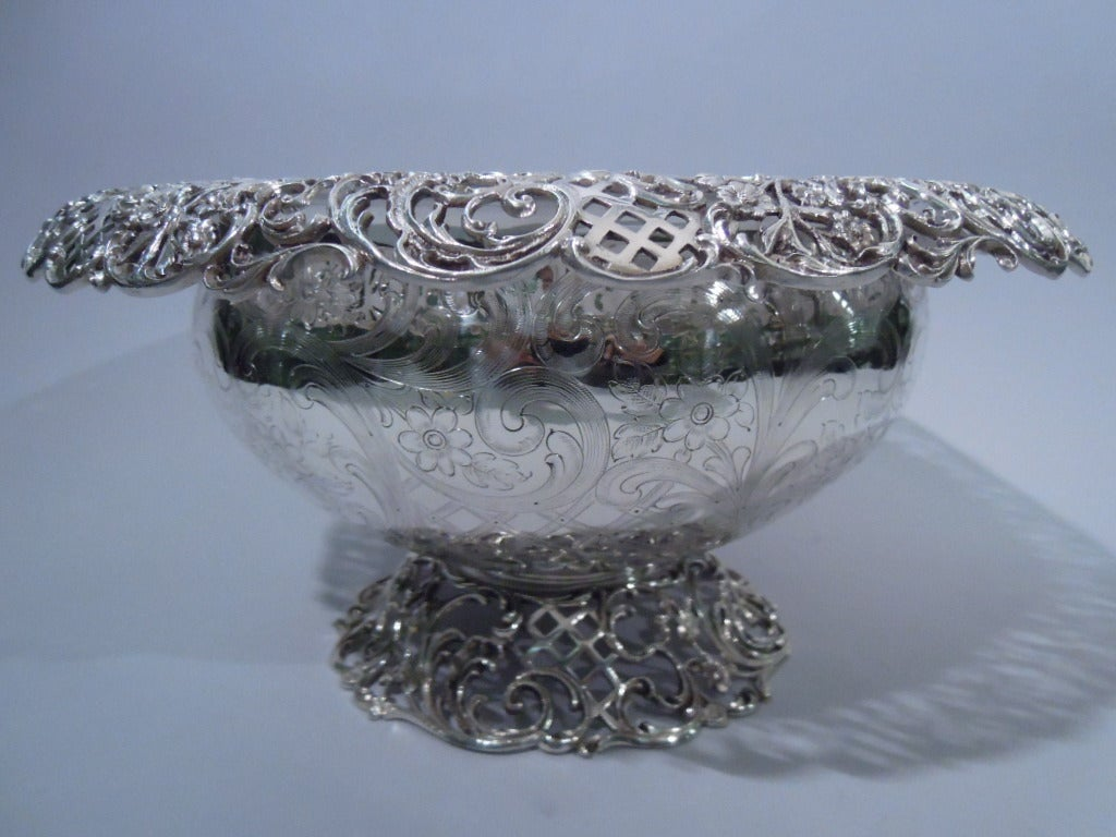 Je Caldwell Sterling Silver Punch Bowl With 10 Cups At 1stdibs