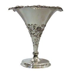 Tiffany Clover Vase - Early Piece in Pattern - American Sterling Silver - C 1904