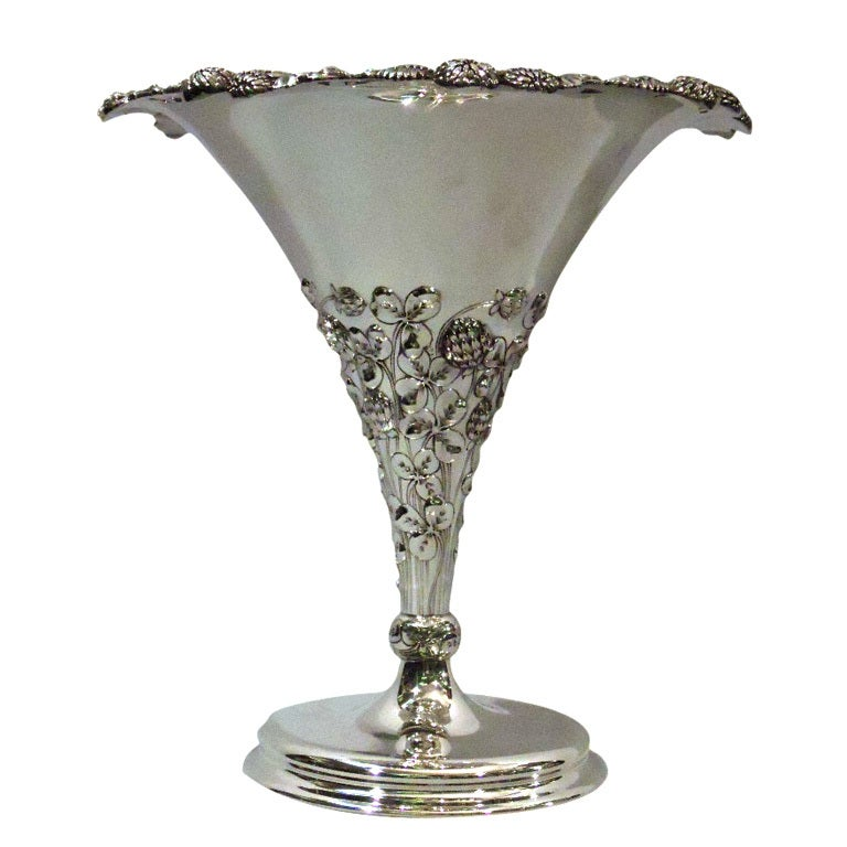 Tiffany Clover Vase Early Piece In Pattern American