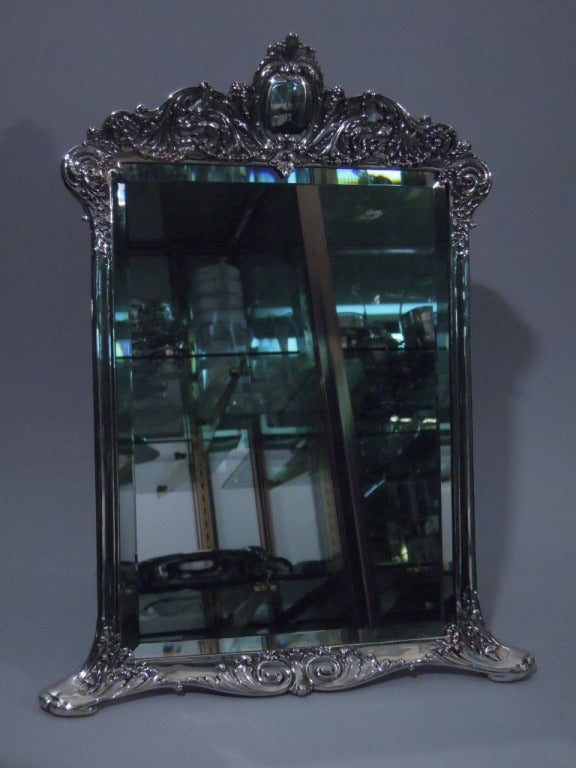 Antique tiffany sterling silver vanity mirror for sale at for Silver mirrors for sale