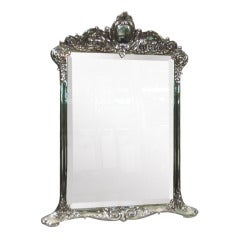 Antique Tiffany Sterling Silver Vanity Mirror