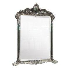 Antique Tiffany Sterling Silver Vanity Mirror