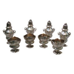 Edwardian Open Salts & Sugar Casters - Rococo - English Sterling Silver