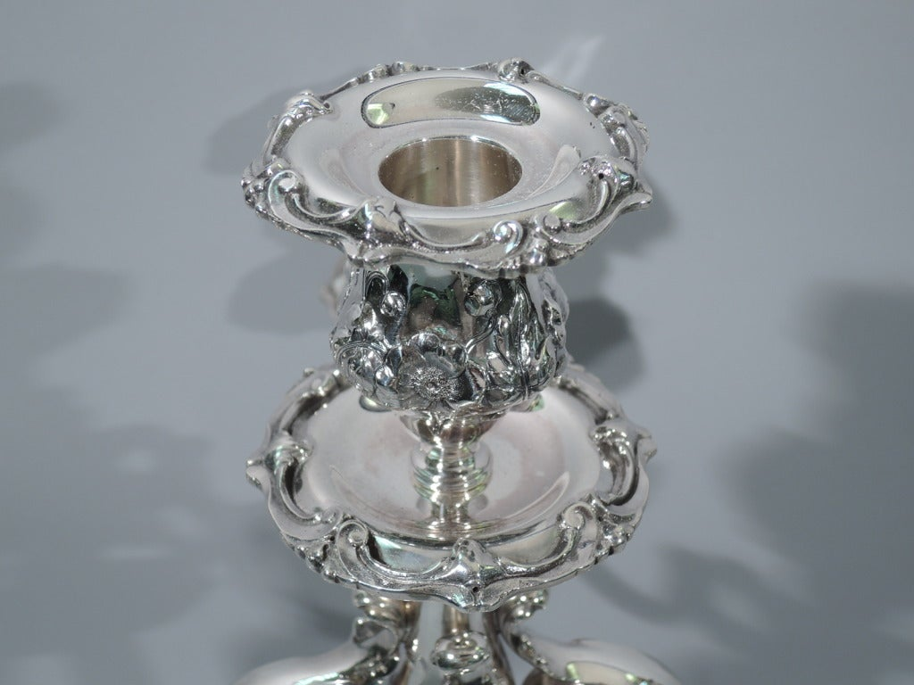 Pair of Reed & Barton Cinq Fleurs Sterling Silver 5-Light Candelabra  4