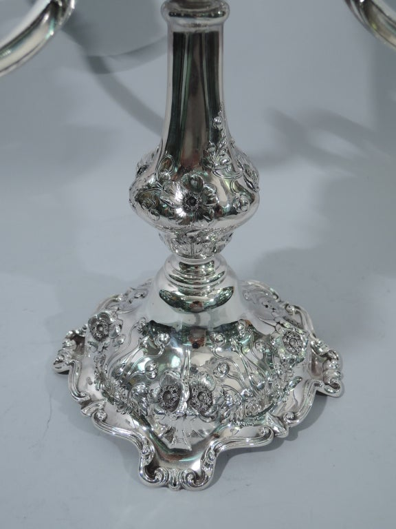 Pair of Reed & Barton Cinq Fleurs Sterling Silver 5-Light Candelabra  7