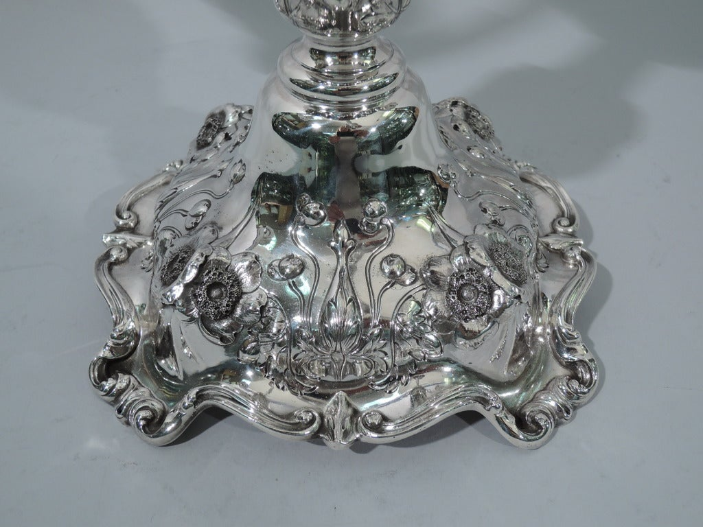 Pair of Reed & Barton Cinq Fleurs Sterling Silver 5-Light Candelabra  8