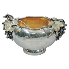 Gorham Punch Bowl with Ladle - Gilded Age - American Sterling Silver - 1881