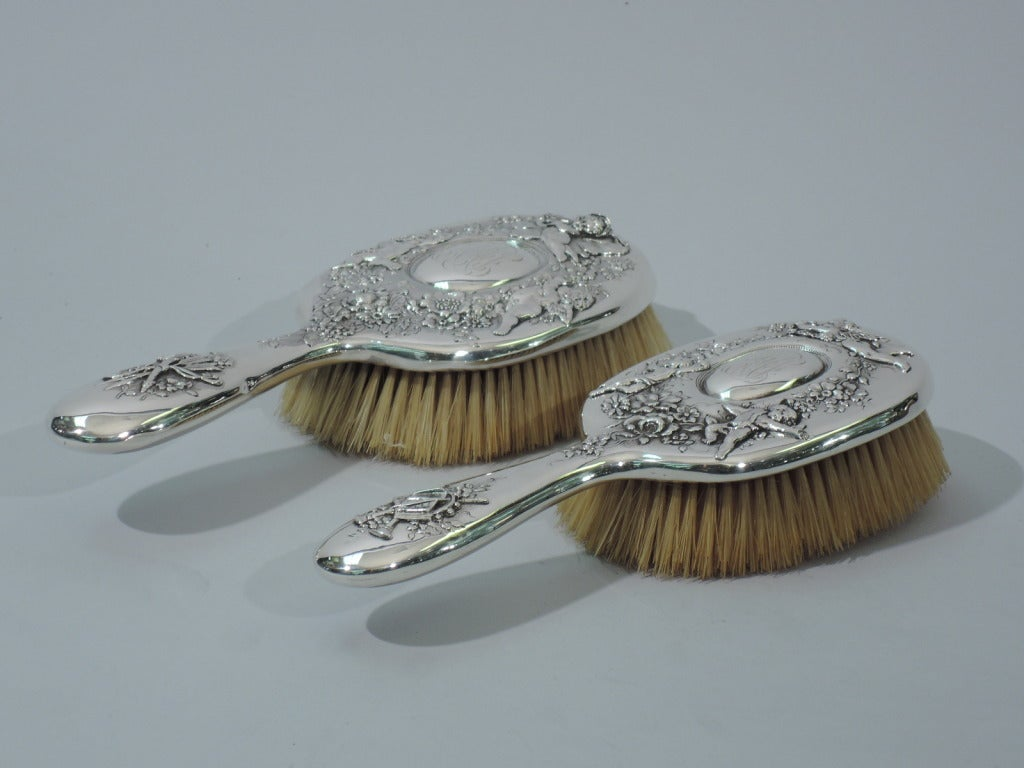 Tiffany Vanity Set - Rococo - American Sterling Silver - C1900 For Sale 3
