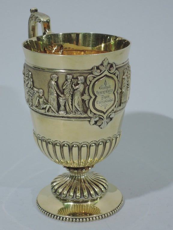 Victorian Mug Greek Revival English Sterling Silver