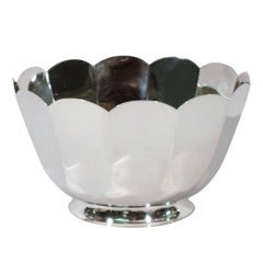 Tiffany Bowl - Modern with Scalloped Petal Rim - American Sterling Silver