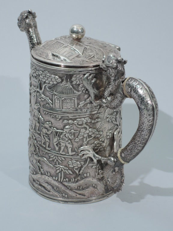 Dramatic Dragon Teapot By Khecheong Chinese Export