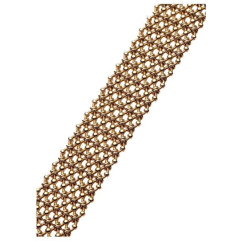 cartier france cotte de maille gold bracelet at 1stdibs. Black Bedroom Furniture Sets. Home Design Ideas