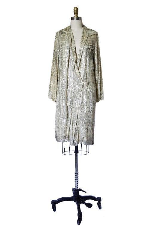 1920s Rare Assuit & Net Silver Flapper Coat 2