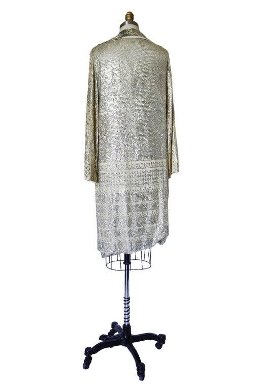 1920s Rare Assuit & Net Silver Flapper Coat 3