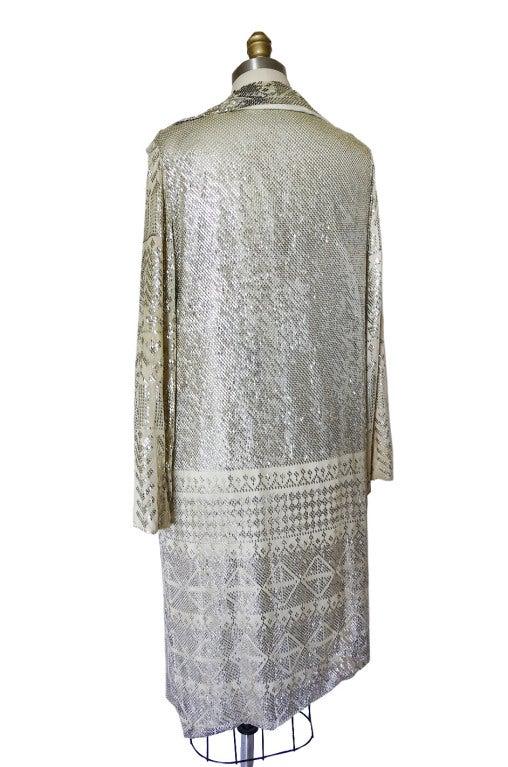 1920s Rare Assuit & Net Silver Flapper Coat 6