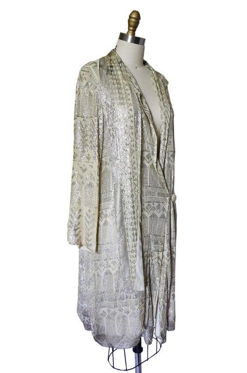 1920s Rare Assuit & Net Silver Flapper Coat 7
