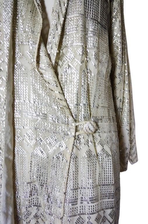 1920s Rare Assuit & Net Silver Flapper Coat 8