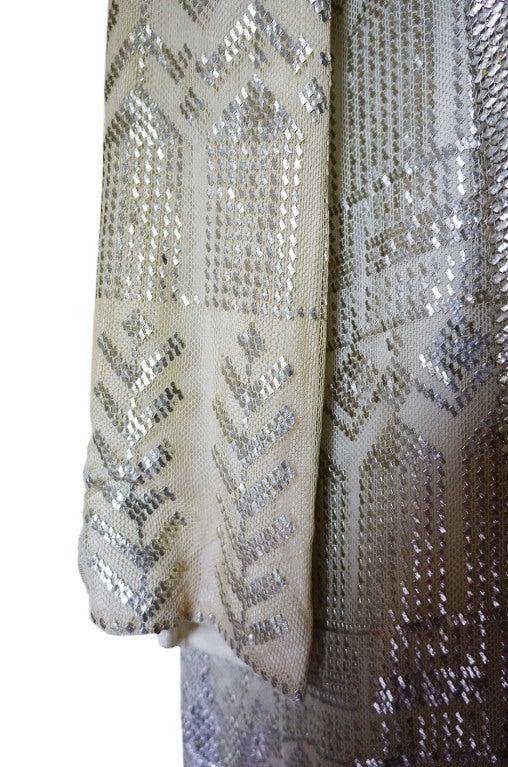 1920s Rare Assuit & Net Silver Flapper Coat 9