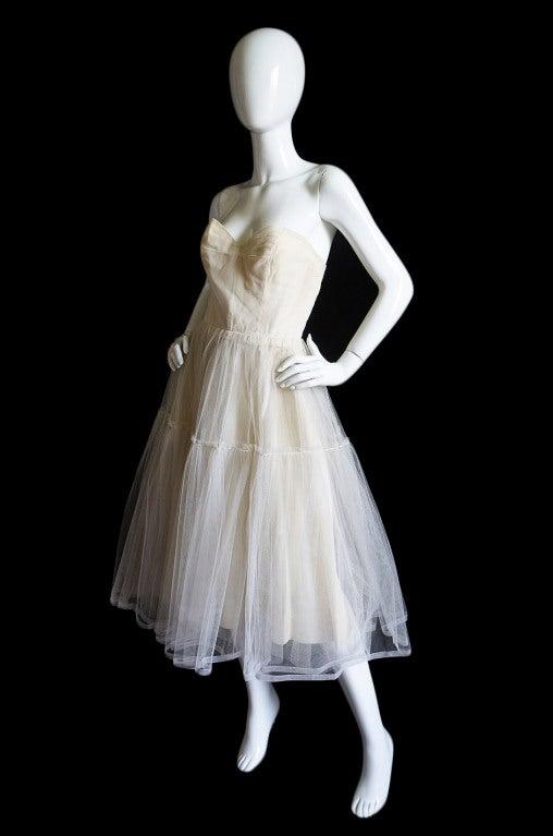 1950s Pierre Balmain Foundation Garment At 1stdibs