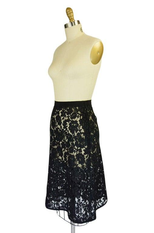 F/W 2008 Prada Guipure Lace Skirt 3