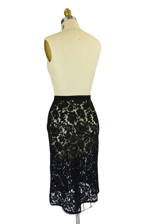 F/W 2008 Prada Guipure Lace Skirt 4