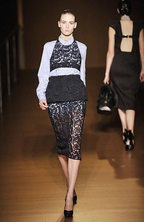 F/W 2008 Prada Guipure Lace Skirt 8