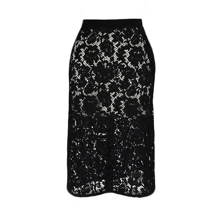F/W 2008 Prada Guipure Lace Skirt 1