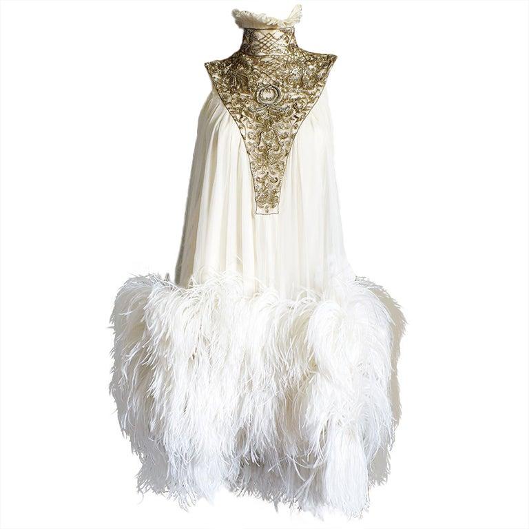 F2006 alexander mcqueen feather dress for Alexander mcqueen wedding dresses price