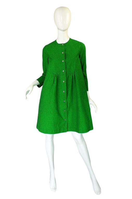 1960s Green Baby Doll Marrimekko Dress At 1stdibs