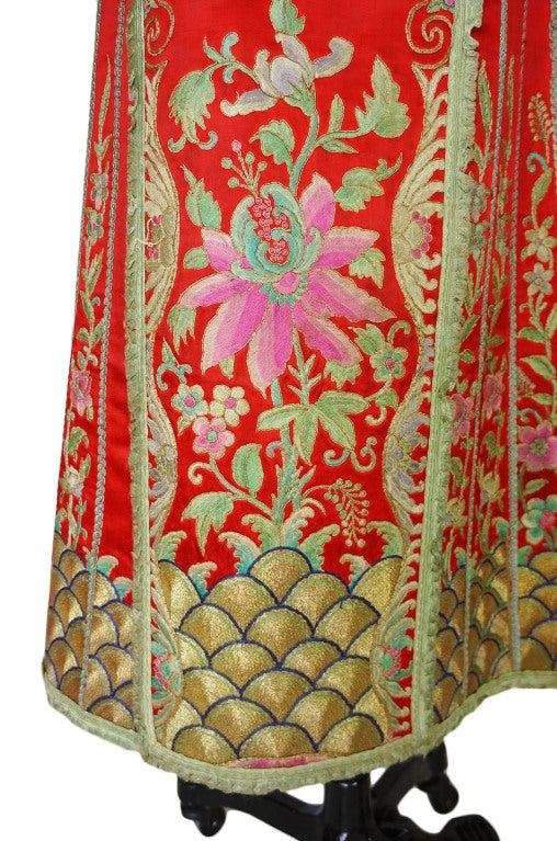 Rare Antique Silk Chinese Wedding Set 10