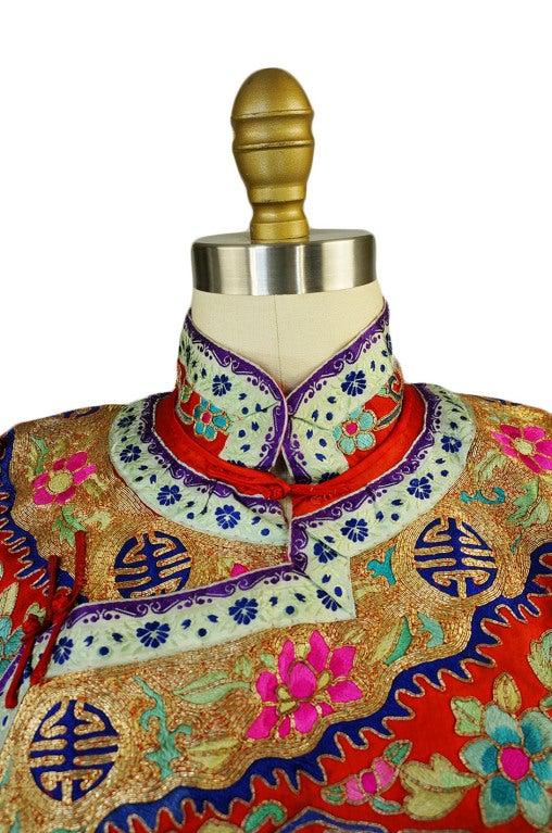 Rare Antique Silk Chinese Wedding Set 8